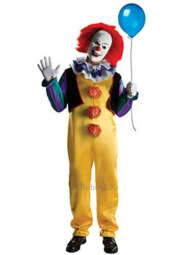 Clown Mörder Männer Kostüm - Deluxe es Clown Pennywise Kostüm XL (44-46