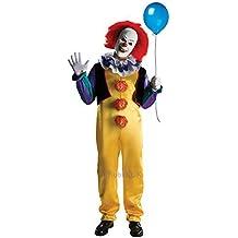 Adulto Deluxe Pennywise Rubies IT Stephen King Da uomo Spaventosa Clown Costume Halloween