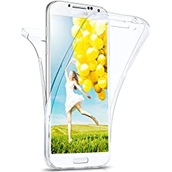 MoEx Coque intégrale en Silicone Compatible avec Samsung Galaxy S4 | 360° - Transparent, Transparent