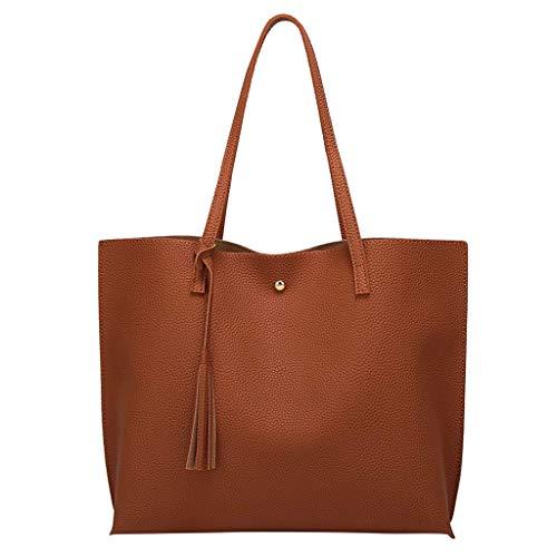 Fransen-mini-lampe (Damen Umhängetasche Shoulder Bag Handtasche Schultertasche Satchel Schulter handbag Rucksack,Fransen Solide Große Kapazität Einkaufs Tote Taschen)