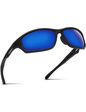 Occffy Hombre Gafas de sol deportivas polarizadas para béisbol, atletismo, ciclismo, pesca, golf Tr90 (Marco mate...