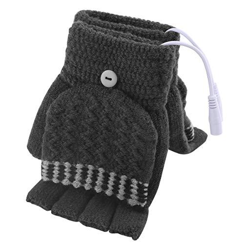 guanti riscaldati Guanti da Uomo riscaldati USB da Donna Guanti scaldamani USB Guanti Invernali riscaldanti per Dito Pieno Caldo e Mezzo Dito Senza Dita Mano Calda Portatile