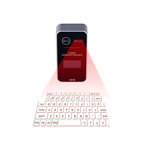 Coupon Matrix - Smart Keyboard Wireless Projection Keyboard Bluetooth Virtual Keyboard Projector Mouse Set for iPhone, iPad, PC, Android Smartphone (Silver + Black)