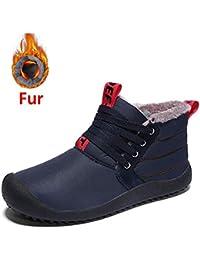 Stivali da Neve da Uomo Inverno Caldo Impermeabile Sneakers Stringate da  Lavoro Scarpe da Lavoro Completamente 8648f2ca2e0