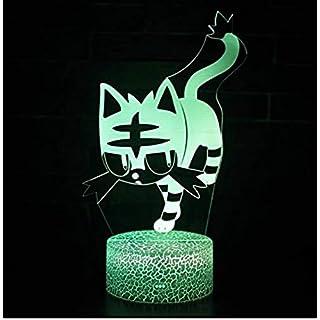 Cat 3D Stereo Vision Lampe Acryl 7 Farben Ändern USB Schlafzimmer Nachttischlampe Nachtlicht Schreibtischlampe Beste Geschenke