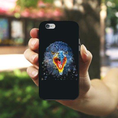 Apple iPhone X Silikon Hülle Case Schutzhülle Rabe Vogel Muster Silikon Case schwarz / weiß