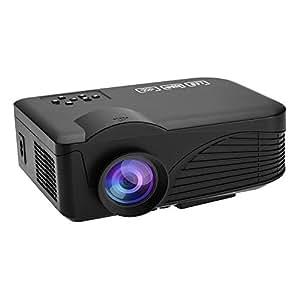 docooler LED4018 LED-Projektor Full Color 1200 Lumen Beamer 130 zoll 1080P 1000: 1 Kontrastverhältnis Projektionsmaschine mit HDMI VGA-Handels USB-Anschluss Fernbedienung