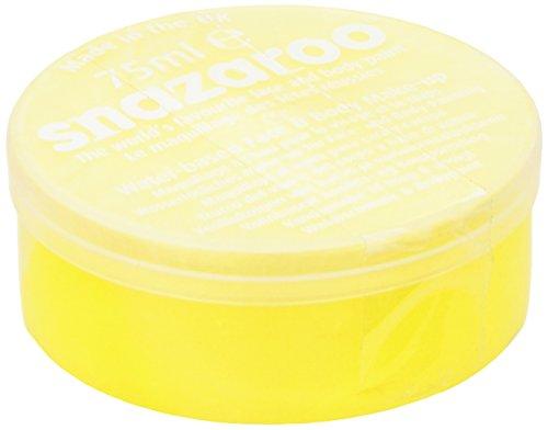 Snazaroo 1175222 Kinderschminke, hautfreundliche hypoallergene Gesichtschminke auf Wasserbasis, wasservermalbar, parabenfrei, leuchtend gelb, 75 ml ()