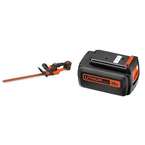 BLACK+DECKER GTC36552PC-QW Tagliasiepi, 36 V, al Litio, Lama 55 cm + BL20362-XJ Batteria al Litio,