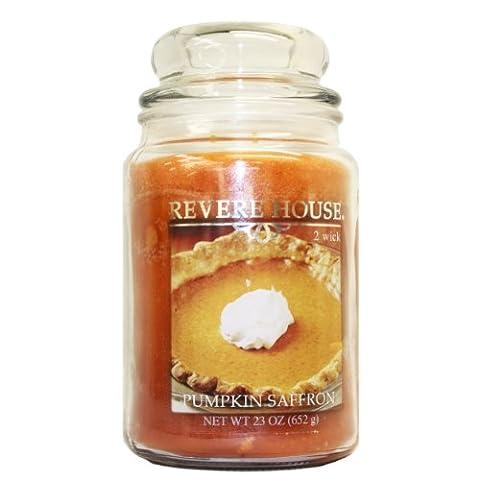 Candle Lite 23 oz Country Comfort Jar Candle, Pumpkin Saffron