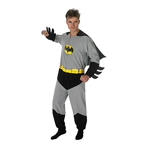 pe für Herren zu Karneval Fasching Kostüm Gr.L (Batman Onesies Für Erwachsene)