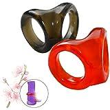 Set van 2 willekeurige kleuren Supercomfortabele en veilige siliconen borgring Eenvoudige oefening Herstelhouding -800