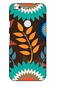 AMAN Flower & Perch 3D Back Cover for Google Pixel XL