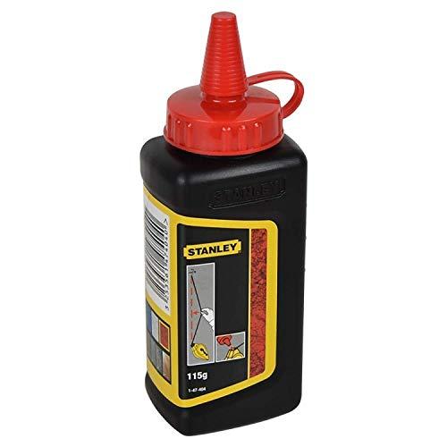 Stanley Schlagschnurkreide (115 g, gut haftend, sehr wasserfest, schwer löslich, in Kunststoffdose) 1-47-404, rot -