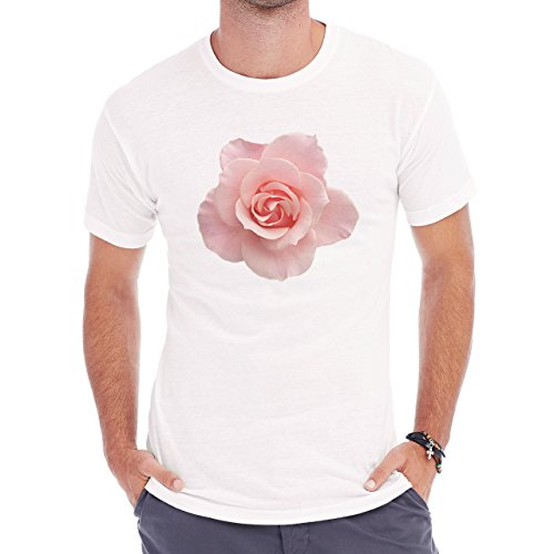 Flowers Nature Blossom Plant Pink Rose Blossom Herren T-Shirt Weiß