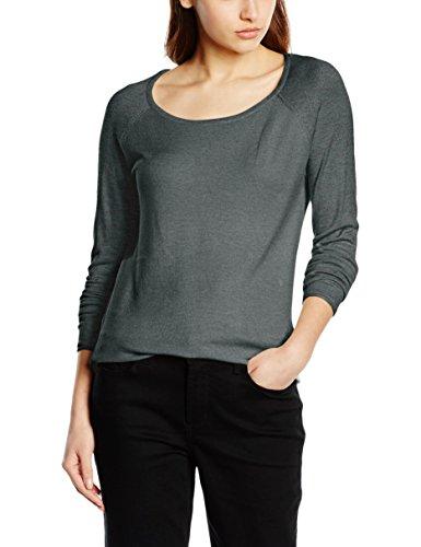 ONLY Damen Pullover onlMILA LACY L/S Long KNT NOOS, Grün (Laurel Wreath Detail:W. Melange), 34 (Herstellergröße: XS)