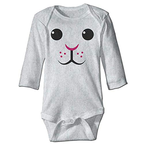 Easter Bunny Rabbit Face Infant Baby Toddler Onesie Bodysuit White 12M Bunny Infant Bodysuit
