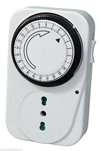 Timer / Orologio regolabile giornaliero 24 ore c / presa Mod. TS-MI2 Extrastar