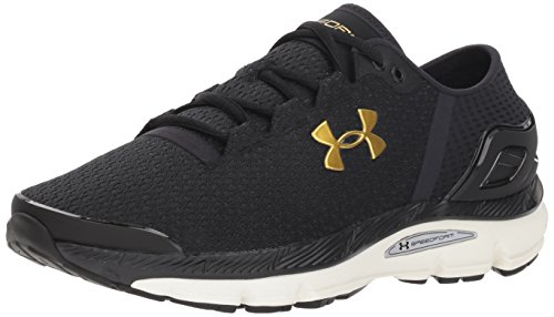 Under Armour Speedform Intake 2, Scarpe Running Uomo, Nero (Black/Charcoal/Metallic Gold), 45 EU