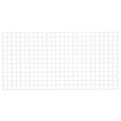 Wetrys 6 Pcs Grid Divider Tray Isolate Board Fish Tank Bottom White Filter Tray Aquarium Crate 4