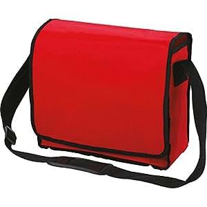 HALFAR - sac besace courrier sacoche bandoulière étudiant 1800014 - rouge- mixte homme / femme -