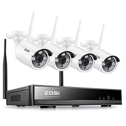 ZOSI 960P Wifi NVR 4CH 4 Cámara sin Disco Duro -Sistema