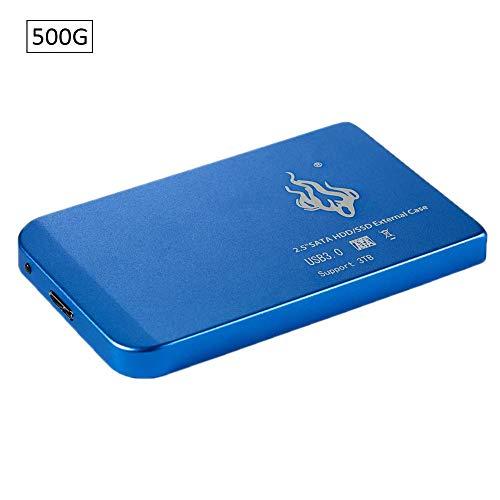 Tragbare externe Festplatte 500 GB, 1 TB, 2 TB, schraubenfreie Festplatte, USB 3.0-Laptop, SATA 3.0, mobile Festplatte, Aluminiumlegierung, Gehäuse für Windows Mac Linux, 2,5 Zoll