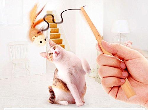 Chytaii Juguete de Gato Ratón Falso de Tela Paquete de 2