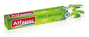 Alfapac - AFV40M - Rouleau Film Etirable - Végétal Origin - 40 m - Lot de 3