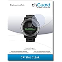 [3 Pack] Garmin fenix 3 Screen Protector disGuard® [Crystal Clear] Protective Film, Invisible, Transparent, Clear / Scratch Resistant, Bubble-Free Install, Anti-Fingerprint, Anti-Scratch / Protector Film, Screen Guard