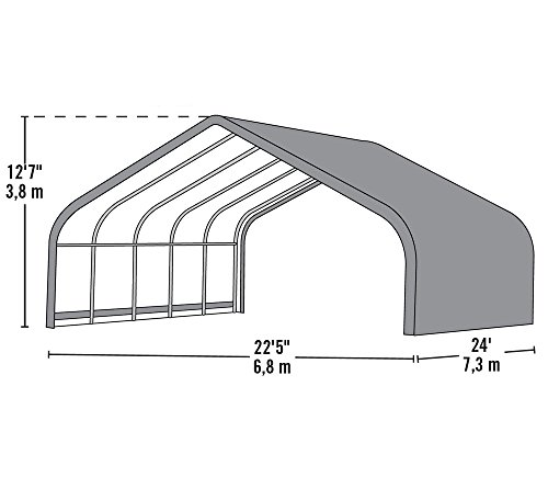 ShelterLogic Run-In-Shed Weidezelt, Weideunterstand 49,6m² * EXKLUSIVPRODUKT * // 680x730 cm (LxB) // Lagerzelt, Lagerhütte und Pferdestall -