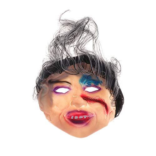 Amosfun Halloween Ghost Mask weibliche Ghost Smiley Horror Vollgesichtsmaske für Halloween Scary Bar ktv Kostüm Cosplay Party Spukhaus Dekor