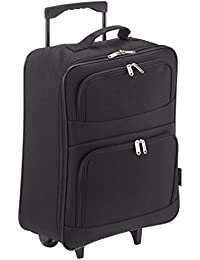 5 Cities Foldaway Lightweight Hand Luggage Suitcase, 55 cm, 39 Liters, Black