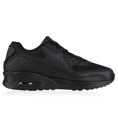 napoli-fashion , Chaussures de sport d'extérieur pour homme Schwarz Total