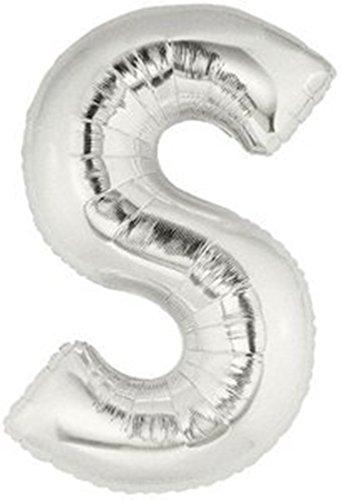 Außenwandleuchte 101,6cm Silber groß Folie Helium Alphabet Buchstabe Ballon Hochzeit Party A-Z (A) Zahl (Dekoration Halloween Up Blow)