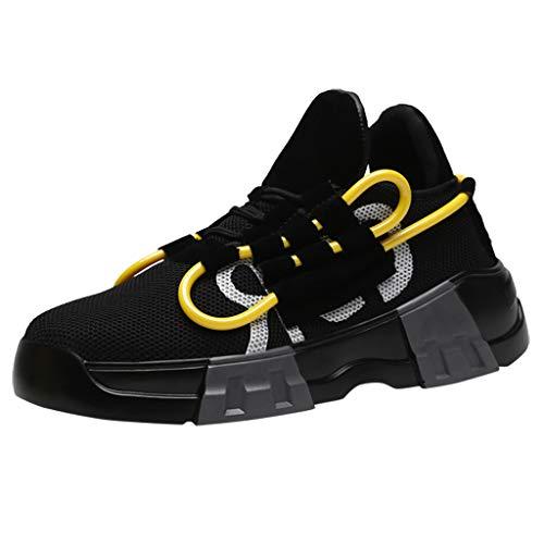 SHE.White Herren Classic Niedrige Sneaker Stricken Atmungsaktiv Freizeit Joggingschuhe Mode Farbabstimmung Sportschuhe Outdoorschuhe 39-44 -