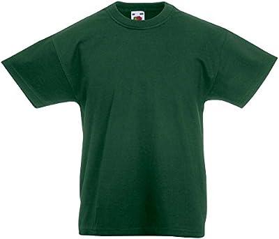 Fruit of the Loom Kids Plain Blank Cotton T Shirt