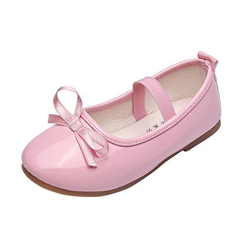 Topgrowth scarpe da bambina pelle eleganti ballerina ragazze casuale scarpe da principessa danza sneaker (27, rosa)