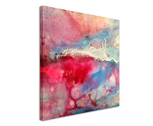 Quadratische Fotoleinwand 90x90cm Handgemaltes buntes Aquarell auf Leinwand exklusives Wandbild moderne Fotografie für ihre Wand in vielen...