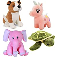 ESTON Combo of 4 (Unicorn ,Bulldog, Turtle, Elephant) Soft and Stuffed Teddy Bear, Especially for Girls/Kids/Boys/Gifts…