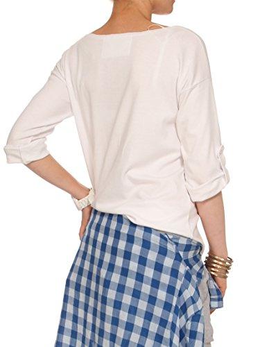 YULIYA BABICH Designer Bluse YY500037 RAL9003; Weiß