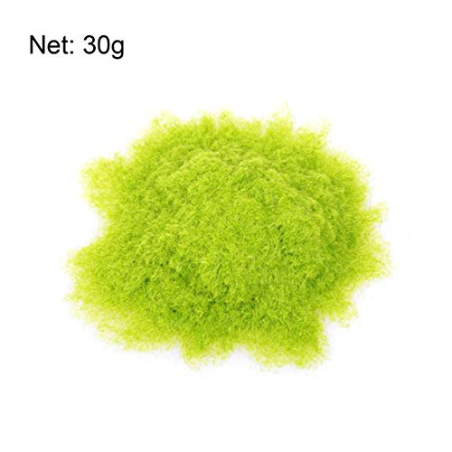 Vige 30g Kunstrasenpulver Sandkasten Spiel Micro Landschaft Dekoration Hausgarten DIY Zubehör Gebäudemodell Material - Fluoreszierend Grün