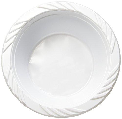 Blue Sky 100Zählen Einweg Kunststoff Schalen, 12oz, Weiß (Pack Count 100 Medium,)