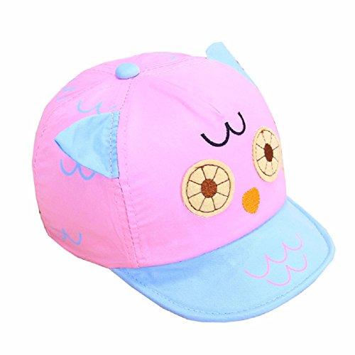 Wicemoon Baby Baumwolle Hat Sun Hat Kaninchen Ohr Form Anhänger Stern Cap Kids Sommer Strand Hat Empfohlen für 0–1Jahre Baby 42–44cm Rose (Anhänger Cap)