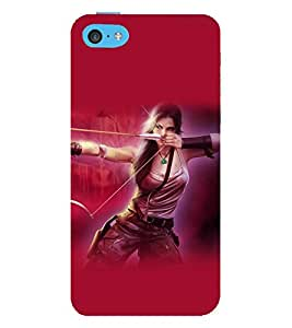 printtech Cute Beautiful Girl Game Back Case Cover for Apple iPhone 5S