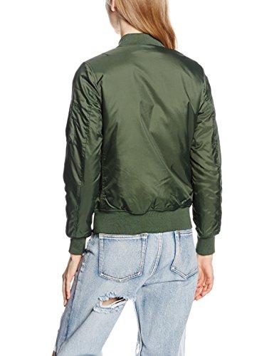 Urban Classics Damen Jacke Ladies Basic Bomber Jacket Grün (olive 176)