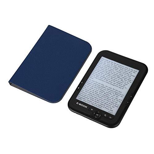 Bewinner Kids Ebook Reader Tragbarer elektronischer E-Ink-Drucker 6-Zoll-E-Reader mit Blauer Gehäuseabdeckung Kopfhörer Unterstützung 29 Sprachen 800x600 Auflösung Display 300DPI(Schwarz 16G)