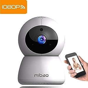 donde comprar camaras de seguridad inalambricas: Cámara de Vigilancia WiFi Mibao 1080P Cámara IP Inalámbrica, HD Visión Nocturna,...
