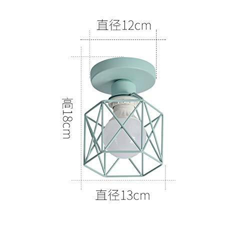B Deckenleuchte himmelblau Basis + himmelblau Lampenschirm mit monochromen 9 Watt warmes Licht LED-Lampe