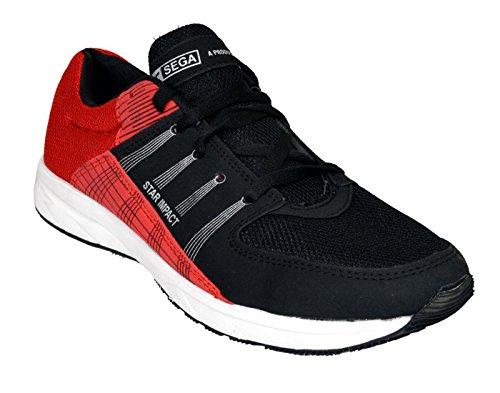 b3faa7a822b98 SEGA Techno Black-Red Running Shoes